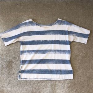 Madewell Blue and White Striped Top XS